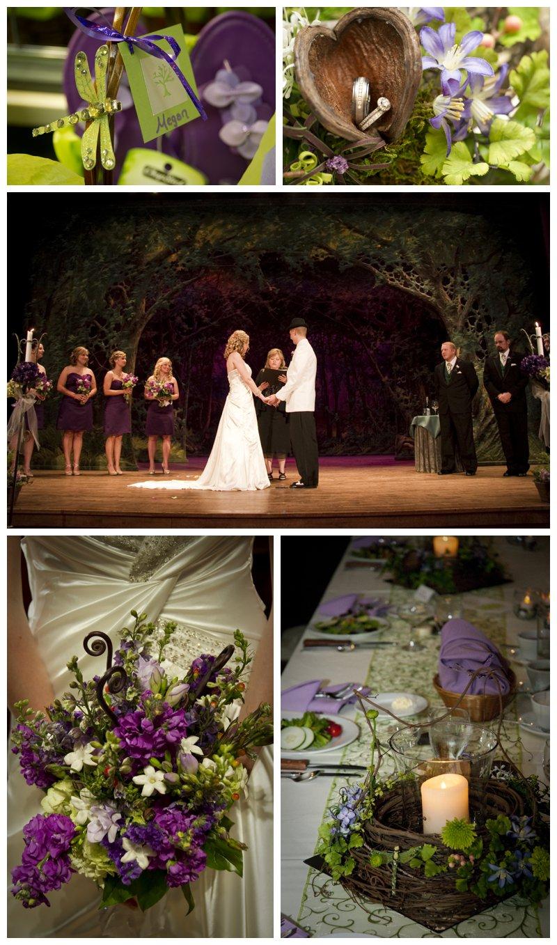 Purple And Jewel Wedding Colors